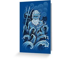 Poseidon Greeting Card