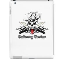 Chef Skull 2.1: Culinary Genius Black Flames iPad Case/Skin