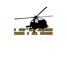 Sober Helicopter Dude Photographic Print