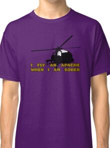 Sober Helicopter Dude Classic T-Shirt