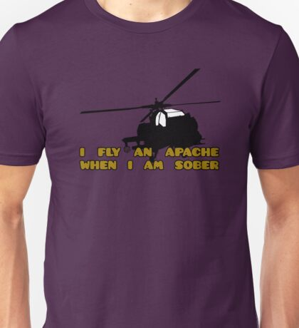 Sober Helicopter Dude Unisex T-Shirt