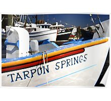 """Tarpon Springs Florida, Boats"" Poster"
