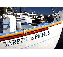 """Tarpon Springs Florida, Boats"" Photographic Print"
