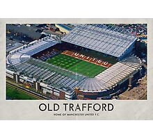 Vintage Football Grounds - Old Trafford (Manchester United FC) Photographic Print