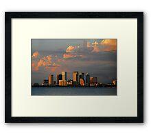 "Summer Skyline, Tampa Florida"" Framed Print"