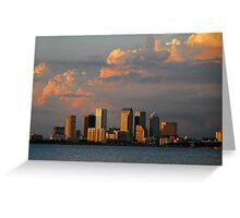 "Summer Skyline, Tampa Florida"" Greeting Card"