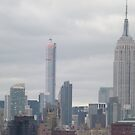 432 Park Avenue Skyscraper, Empire State Building, View from Jersey City, New Jersey by lenspiro