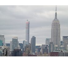432 Park Avenue Skyscraper, Empire State Building, View from Jersey City, New Jersey Photographic Print