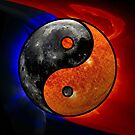 Sun &amp; Moon as Yin/Yang by Dave Martin