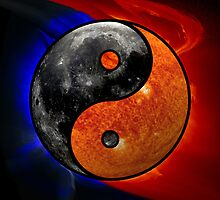Sun & Moon as Yin/Yang by Dave Martin