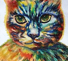 Cat- A- Tude by ksgfineart