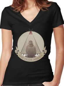 All Seeing Rug Women's Fitted V-Neck T-Shirt