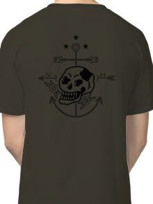 SKULL ANCHOR BLACK Classic T-Shirt