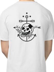 SKULL ANCHOR BLACK Classic T-Shirt