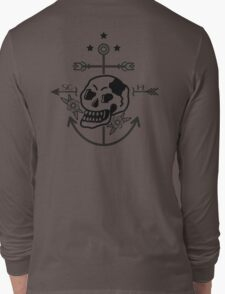 SKULL ANCHOR BLACK Long Sleeve T-Shirt