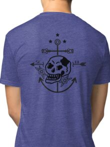 SKULL ANCHOR BLACK Tri-blend T-Shirt