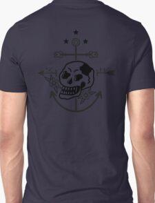 SKULL ANCHOR BLACK Unisex T-Shirt
