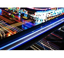 Blazing crossroads Photographic Print
