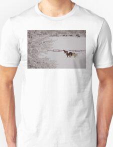 Winter Wonderland w/horses T-Shirt