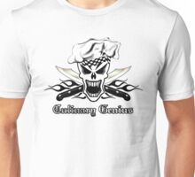 Chef Skull 2.2: Culinary Genius 3 black flames Unisex T-Shirt