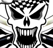 Chef Skull 2.2: Culinary Genius 3 black flames Sticker