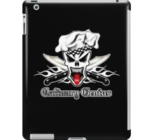 Chef Skull 2.1: Culinary Genius 3 white flames iPad Case/Skin