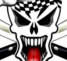 Chef Skull 2.1: Culinary Genius 3 white flames Sticker