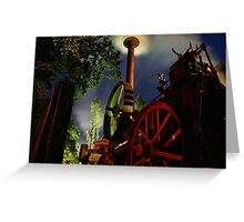 Steam by Night Greeting Card