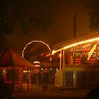 Fairground at Night by Dawn Hutchinson
