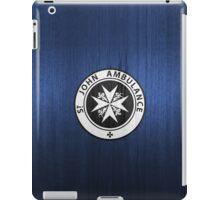 St. John logo on a Blue Box iPad Case/Skin