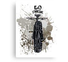 Fat bikers unite! Canvas Print