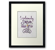 I am up to no good Framed Print