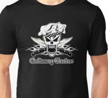 Chef Skull 2.2: Culinary Genius 3 white flames Unisex T-Shirt