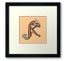 Celtic Fox Letter K Framed Print