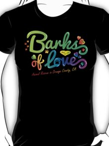 Clothing - Barks of Love (Colors on Black) T-Shirt