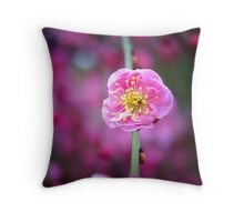 Weeping apricot Throw Pillow