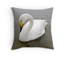 """Whooper"" The Whooper Swan Of Hornsea Mere Throw Pillow"