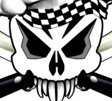 Chef Skull 2.3: Culinary Genius 3 white flames Sticker