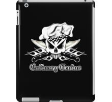 Chef Skull 2.3: Culinary Genius 3 white flames iPad Case/Skin