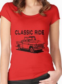 OLD TRUCK Women's Fitted Scoop T-Shirt