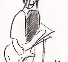 Bass Player - Charcoal by erincox