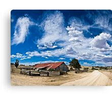 Clouds over the Woolshed Canvas Print