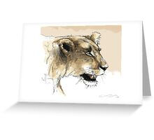 Lioness hunt Greeting Card