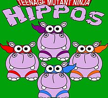 Teenage Mutant Ninja Hippos by ChrisButler
