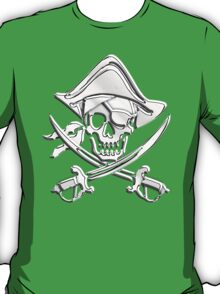 Chrome Nautical Pirate Crossbones T-Shirt