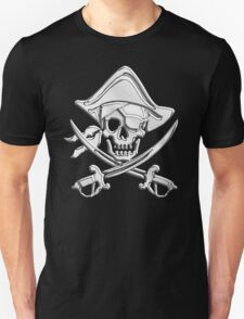 Chrome Nautical Pirate Crossbones Unisex T-Shirt