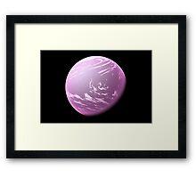 Purple Planet Framed Print