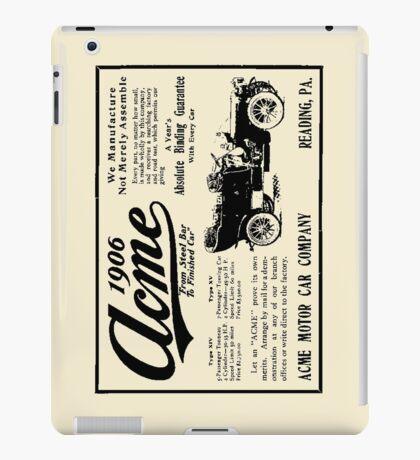 ACME MOTOR COMPANY 1906 iPad Case/Skin