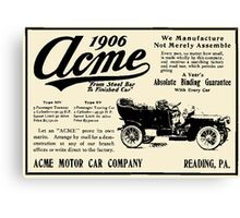 ACME MOTOR COMPANY 1906 Canvas Print