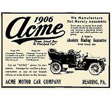ACME MOTOR COMPANY 1906 Photographic Print